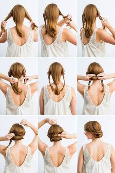 What's the Difference Between a Bun and a Chignon? - How to Do a Chignon Bun – Easy Chignon Hair Tutorial - The Trending Hairstyle 5 Minute Hairstyles, Step By Step Hairstyles, Braided Hairstyles, Simple Hairstyles, Beautiful Hairstyles, Updo Hairstyle, Prom Hairstyles, Braided Updo, Celebrity Hairstyles