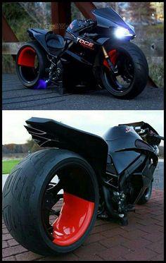 Black modern aka X-Men motorcycle Gp Moto, Moto Bike, Motorcycle Bike, Motorcycle Memes, Custom Street Bikes, Custom Sport Bikes, Custom Cars, Concept Motorcycles, Cool Motorcycles