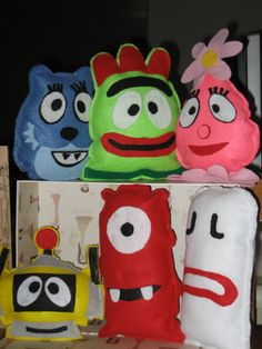 I was introduced to this show recently. It is called Yo Gabba Gabba. This is the most bizarre, funny, ADHD-friendly tv show ever.
