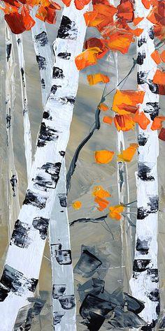 ORIGINAL Oil Painting Landscape Textured Palette Knife by decorpro