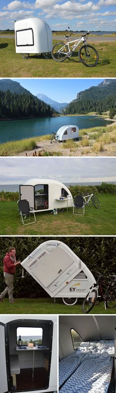 Велосипедный трейлер Wide Path Camper  Датский дизайнер Mads Johansen создал любопытный велоприцеп, выполняющий функции дома на колесах.  По словам автора проекта, создавался трейлер Wide Path Camper специально для тех, кто любит отдых на природе, но не любит возиться с установкой палатки.  #houseonwheels #camper #travel