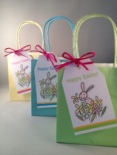 Personalised easter bags and matching cards easter pinterest personalised easter gift tags negle Image collections