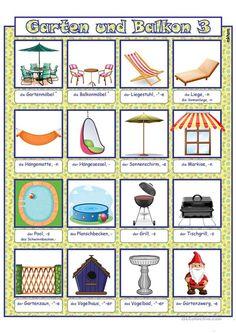 German Language, Worksheets, All In One, Kindergarten, Printables, Day, Language, Balcony, School