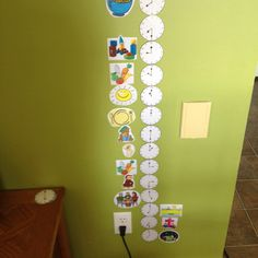 Daily schedule that teaches kids to tell time. Also gets them off your back about when nana and papa will be here!!