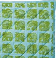 Emerald Elephant Quilt - traditional - quilts - - by Serena & Lily