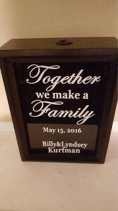 Family Unity Sand Ceremony Shadow Box by DavidsCraftyIdeas on Etsy