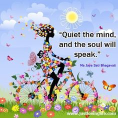 This is a quote by Ma Jaya Sati Bhagavati. It is basically saying that by silencing the mind you will find the real you.
