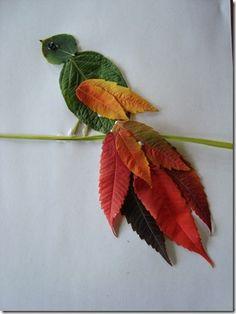 Leaf bird craft