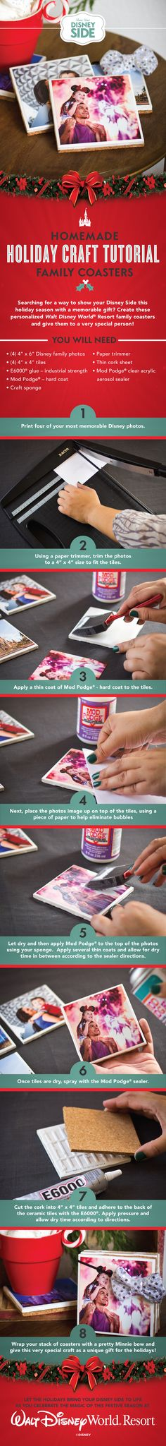 Learn how you can show your holiday #DisneySide with these cool photo coasters!