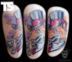 Gentleman fox tattoo by David Tevenal