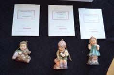 MINT-3pc-Studio-Hummel-Berta-Goebel-Ashton-Drake-Christmas-Ornaments-Set-10-COA