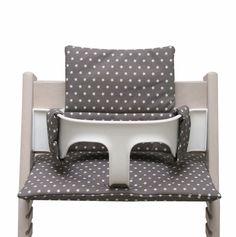 Sitzkissen für Tripp Trapp - Taupe mit Stern von Blausberg Baby auf DaWanda.com