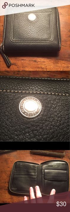 Coach Leather Wallet Excellent condition! All over zipped wallet with lots of space to store cash, and cards. Leather wallet. Coach Bags Wallets