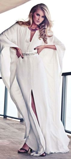 all white with silver dazzle and slits