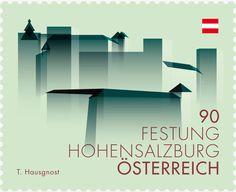 Sello: Hohensalzburg Fortress, Salzburg (Austria) (Austrian landmark) Mi:AT 3091,ANK:AT 3123