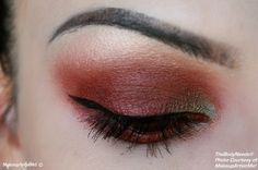 """""""Antique Romance"""" by MakeupArtistMe: Vampy, Russa, Innocence, Nude and Teal Brown pigments."""