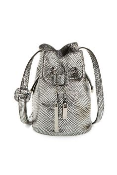 Silver Mini Bucket by Halston Heritage Handbags for $50 | Rent The Runway
