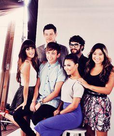 Cory Monteith, Darren Criss, Jenna Ushkowitz, Lea Michele, Kevin McHale & Naya Rivera (Glee)