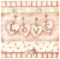 Patchwork Love Art Print  <3