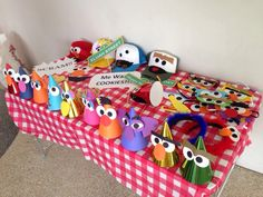 A little Sesame Street photo booth area for the guests to enjoy. I made little hats, caps, cool wordings & pictures, eye masks etc. A little art & craft (DIY) goes a long way to make the party unique.