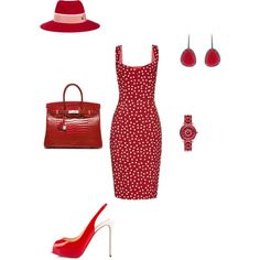#rich by atlienfashioned on Polyvore featuring polyvore, fashion, style, Dolce&Gabbana, Christian Louboutin, Hermès, Christian Dior, Christina Debs and Maison Michel
