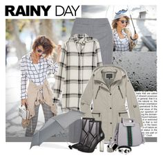 """""""Rainy Day"""" by polybaby ❤ liked on Polyvore featuring Cédric Charlier, Marissa Webb, Marc New York, ShedRain, Steve Madden, Maison Margiela and rainyday"""