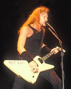 "James Hetfield's ""EET FUK"" ESP Explorer"