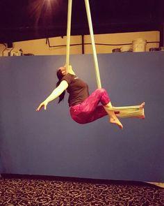 "57 Likes, 1 Comments - Kenzie Wagstaff (@kenziewagstaff) on Instagram: ""Took a class from my sister tonight what a fun class. @maceyw.list #kairosfitness #aerialhammock…"""