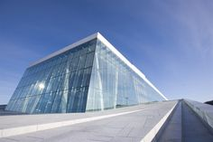 Norway; Snohetta, Oslo opera house, 2002- I remember seeing people walking on the rooftop from our hotel!