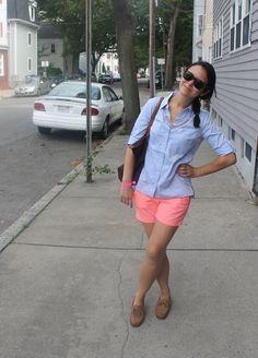 summer preppy + stp necklace