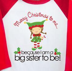 Big sister shirt personalized Christmas big sister by zoeysattic, $22.50