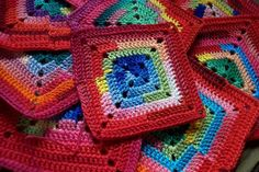 Crochet squares for a blanket