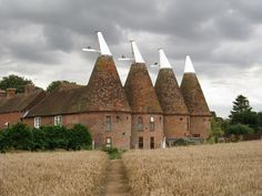 Ickham Oast House, The Street, Ickham, Kent.  Used to dry Fresh Hops before being sent to the Brewery