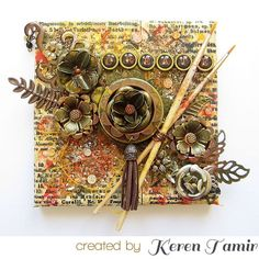 Check out the NEW Finnabair: Art Ingredients in action - this crafty delight was created by Keren Tamir on the Prima Blog