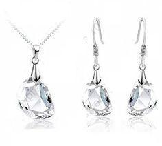 Sterling Silver CRYSTAL NECKLACE AND EARRING SET CRYSTAL EARRINGS CRYSTAL NECKLACE, http://www.amazon.co.uk/dp/B00ZISDRGI/ref=cm_sw_r_pi_awdl_1eBKvb0TP4JNF