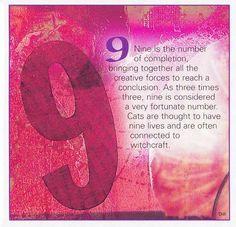 ゝ。Book of Shadows Numerical Associations the Number: 9