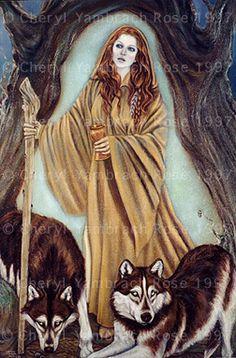 """Brigantia,"" by Cheryl Yambrach Rose-Hall Celtic Pride, Celtic Symbols, Deviant Art, Celtic Goddess, Goddess Art, Celtic Heroes, St Rita Of Cascia, Celtic Nations, Irish Mythology"