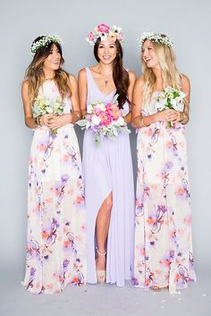 Wedding 2016 trends we love - floral bridesmaid dresses. Gowns by Show Me Your Mumu