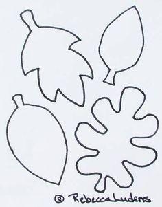 pumpkin leaf pattern use the printable outline for crafts