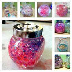 glitter jar diy montessori activity baby sparkle