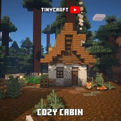 Minecraft Cottage House, Minecraft House Plans, Cute Minecraft Houses, Minecraft Banners, Minecraft Castle, All Minecraft, Minecraft House Designs, Amazing Minecraft, Minecraft Decorations