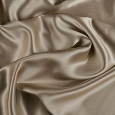 "45"" Wide 100% Silk Charmeuse Bronze By the Yard"