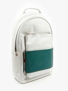 780a983f27 Eastpak x Nicomede White Green Leather Backpack