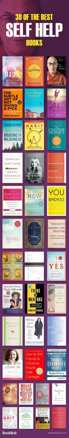 Great list of self help books for women, teachers, young adults, and more. Including inspirational books on personal development, depression, relationships, happiness, confidence, and more. Add these to your 2018 reading list! Reading Lists, Book Lists, Reading Books, Self Development, Personal Development, Good Books, Books To Read, Ya Books, Best Self Help Books