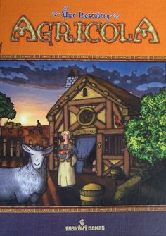 Description from BoardgameNews  In Agricola, you're a farmer in a wooden shack with your spouse and little else. On a turn, you get to take only two actions, one for you and one for the spouse, from all the possibilities you'll find on a farm: collecting clay, wood, or stone; building fences; and so on. You might think about having kids in order to get more work accomplished, but first you need to expand your house. And what are you going to feed all the little rugrats?  The game supp...