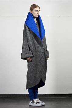 Edeline Lee RTW Fall 2014 Would it be wrong if I wanted this as a house coat? It looks so cozy...