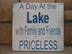 A Day at the Lake12 x 12 Vintage/Rustic subway sign by signart04, $19.99