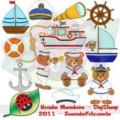 Ursinho Marinheiro I, Digital Kit, sailor teddy