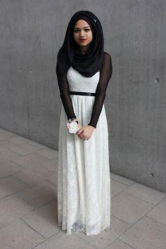 Fashionable And Modern Hijab Look - HijabiWorld Muslim Women Fashion, Islamic Fashion, Modest Fashion, Hijab Fashion, Fasion, Fashion Outfits, Black Hijab, Hijab Evening Dress, Modern Hijab