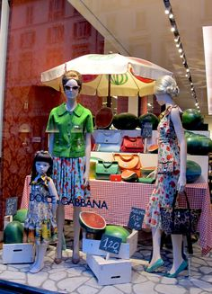 "DOLCE and GABBANA, ""How to Pick a Watermelon"", pinned by Ton van der Veer"